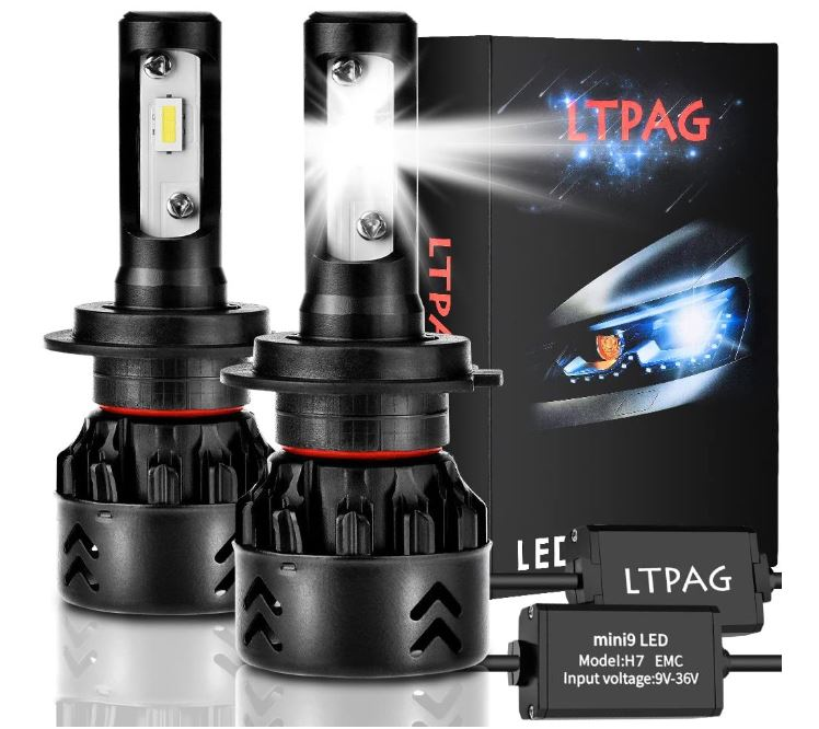 mejores bombillas h7 led para coche LTPAG Bombilla H7 LED Coche