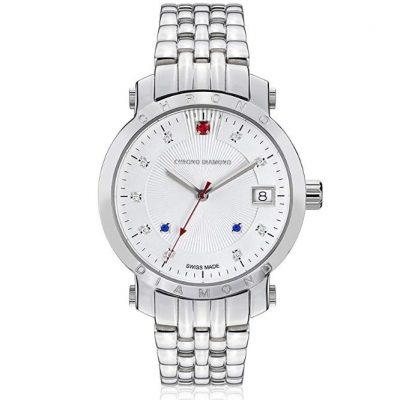 Chrono Diamond 82135 - Reloj para Mujeres Correa de Metal Color Plateado