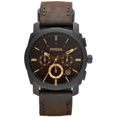 Fossil Reloj Cronografo para Hombre de Cuarzo con Correa en Cuero FS4656