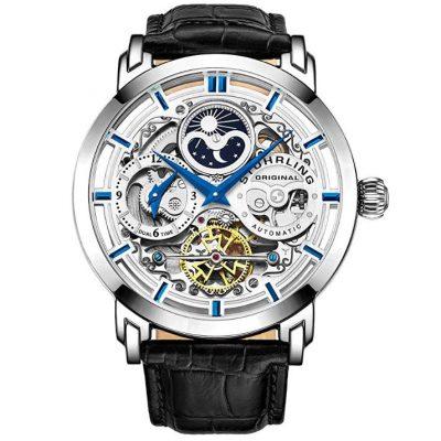 Reloj automatico Stuhrling Original Skeleton con correa de cuero